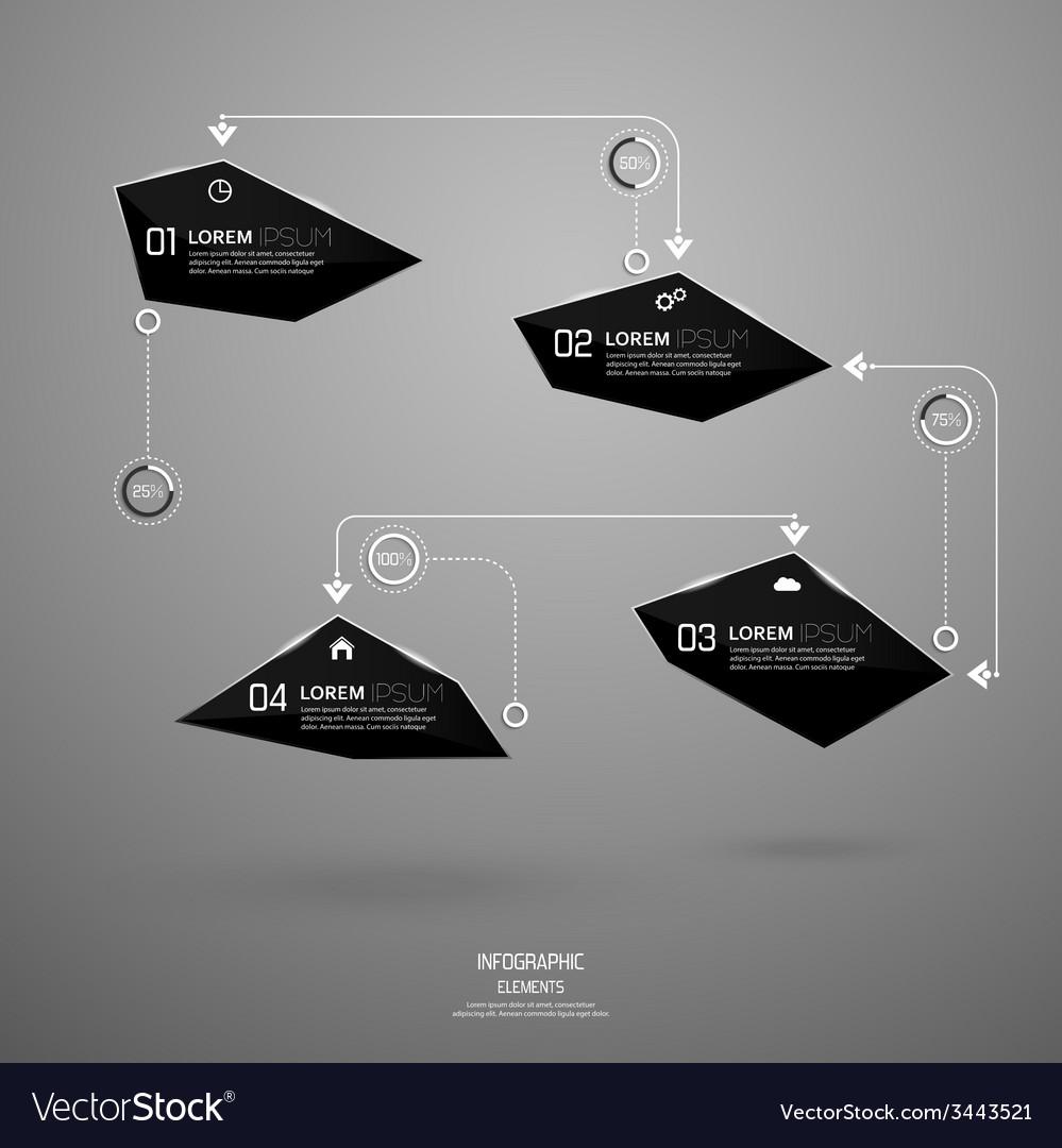 Modern design of shining crystals triangular