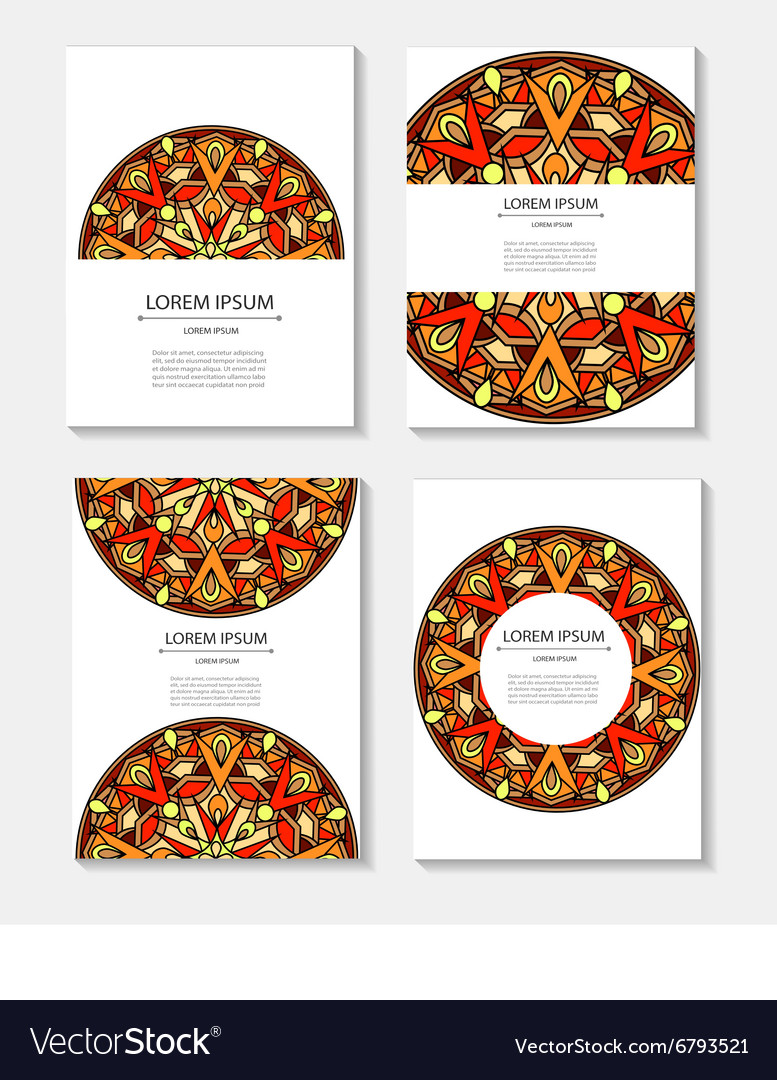 Set templates business cards and invitations
