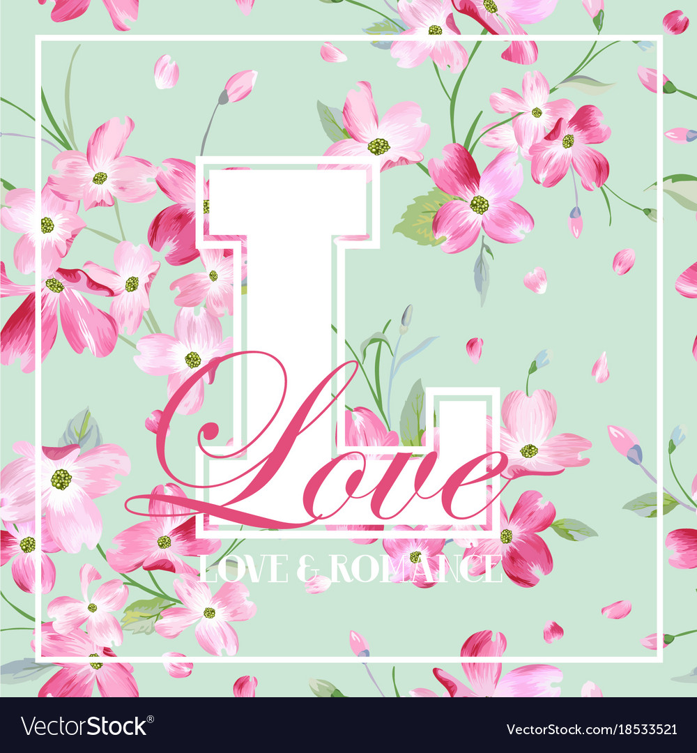 Spring And Summer Flowers Graphic Design Vector Image