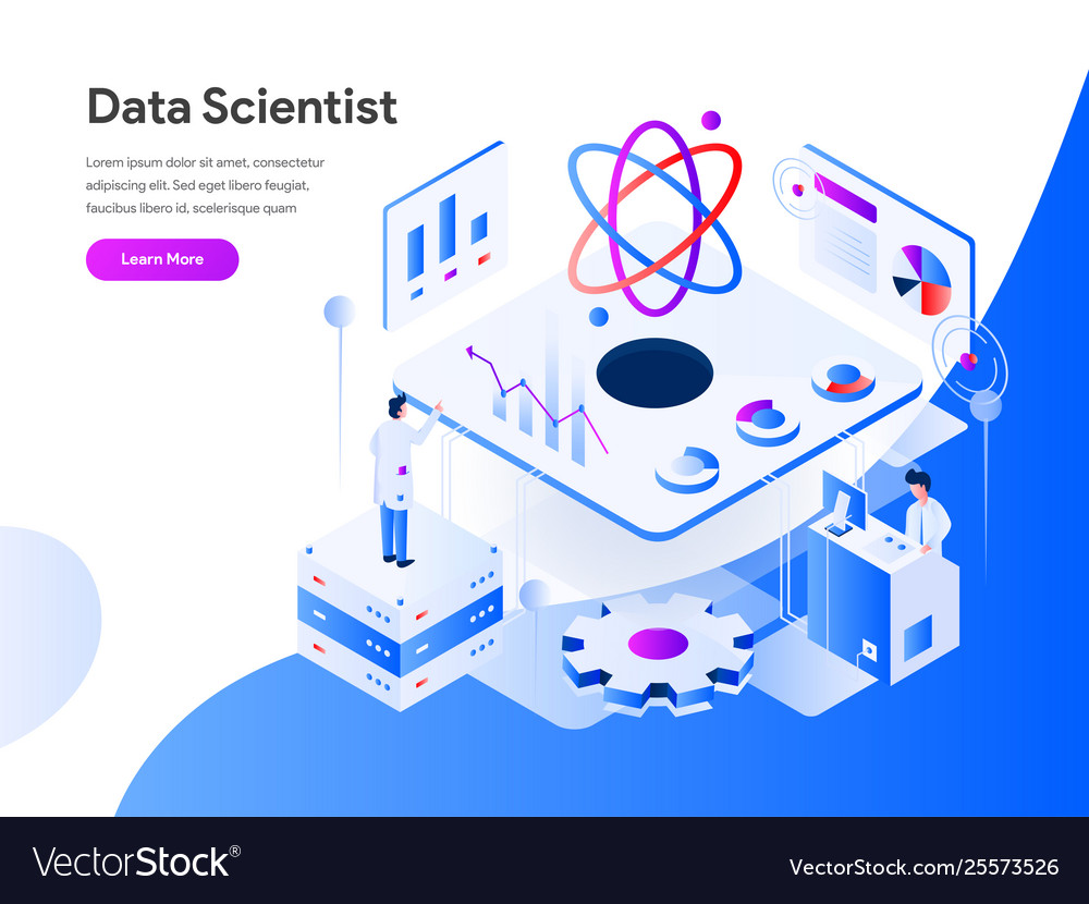Data scientist isometric concept modern flat