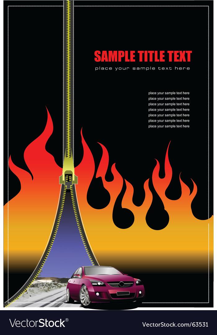 Brochure with zipper vector image
