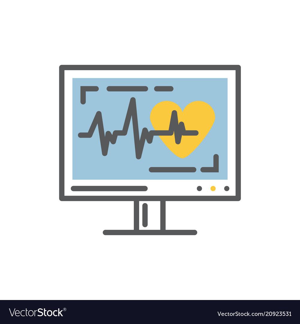 Cardiogram on a monitorekg