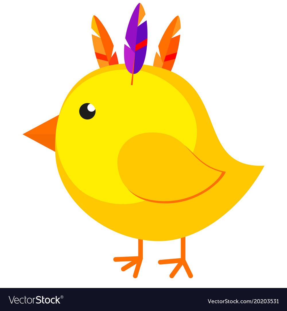 Cartoon chicken chick icon poster