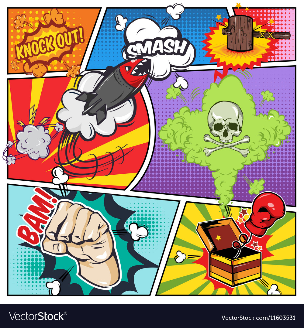 Comics Book Page vector image
