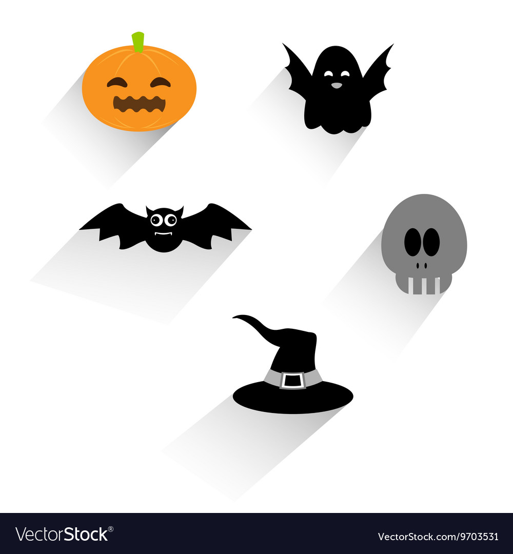 Flat halloween icon vector