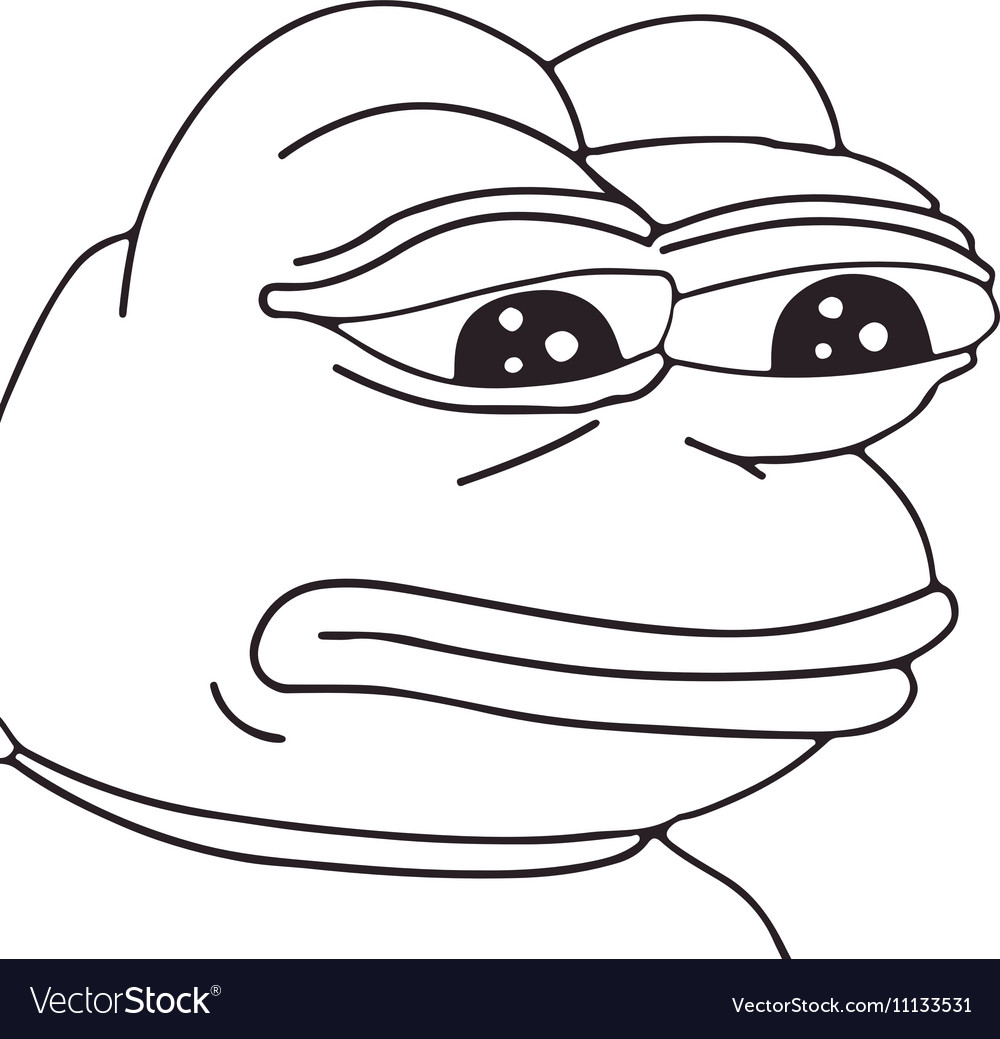 Frog meme face for any design Isolated eps vector image