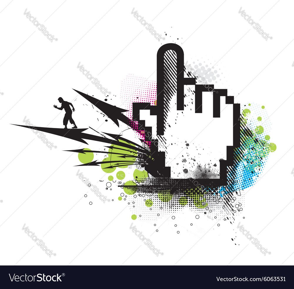 Hand mouse symbol vector image