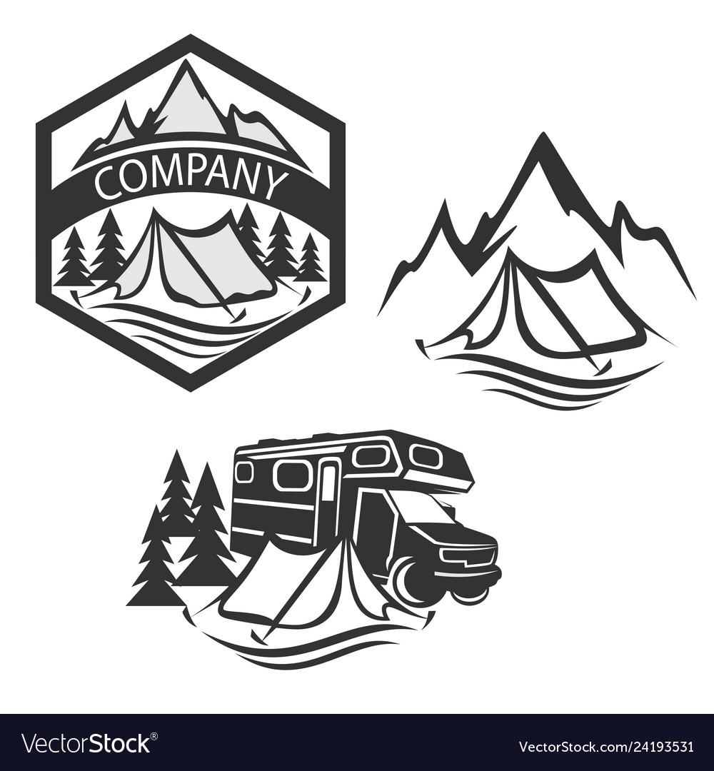 Modern camping logo