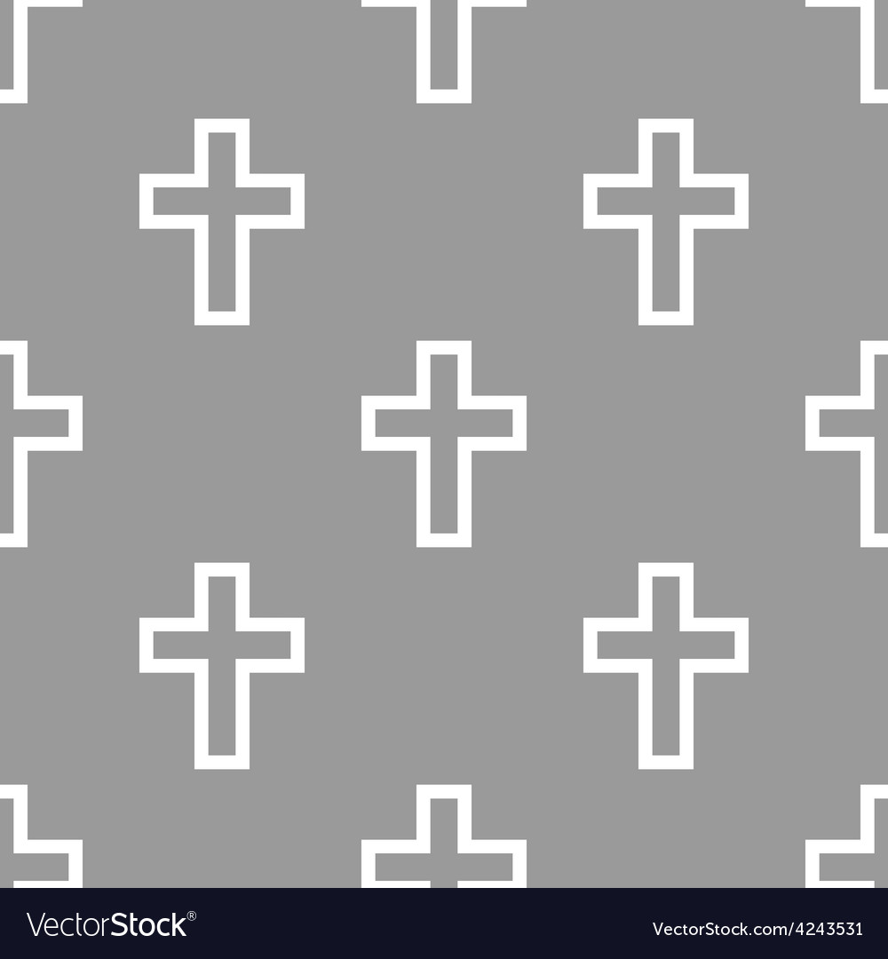 Protestant Cross seamless pattern vector image