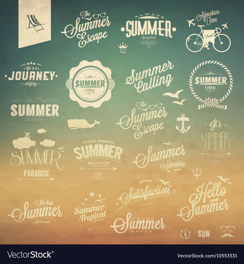 Vintage summer elements