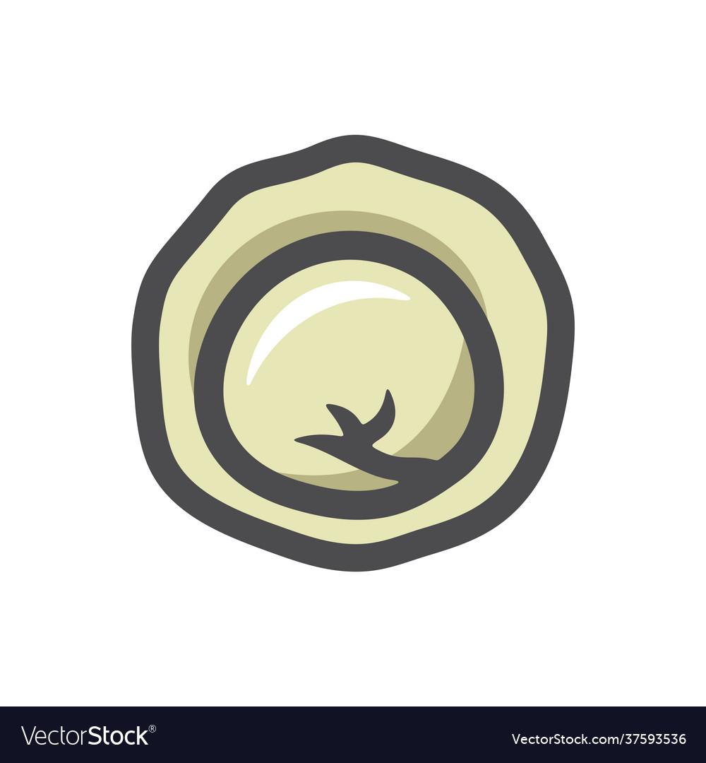 Dumpling ravioli food icon cartoon
