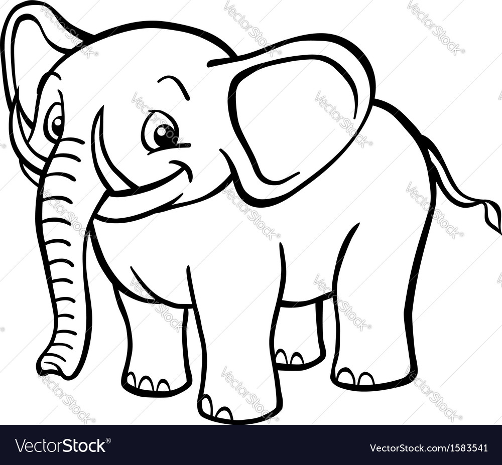 Black And White Cartoon   Cartoon Elephant Black And White