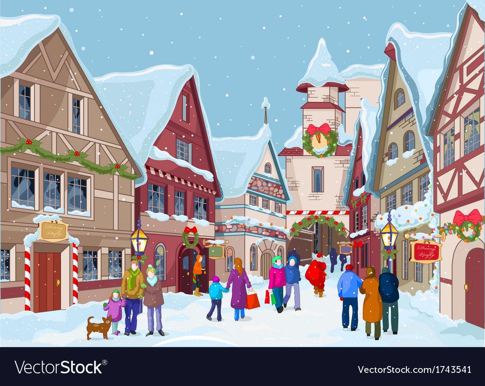 Christmas shopping street