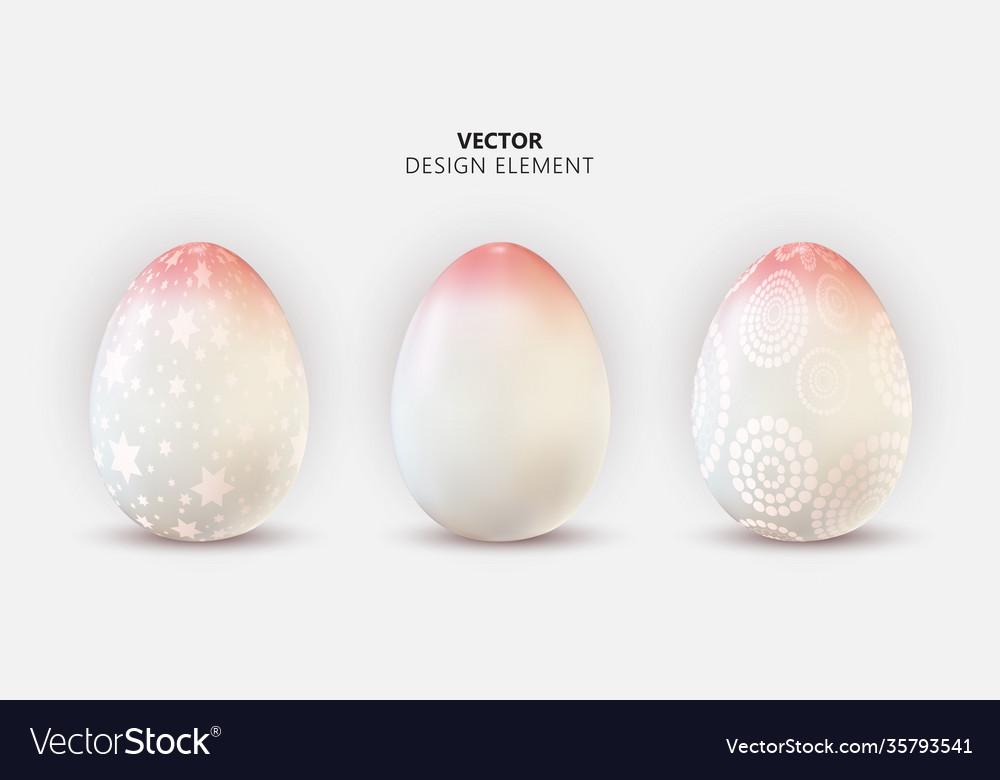 Easter egg design element collection set on light