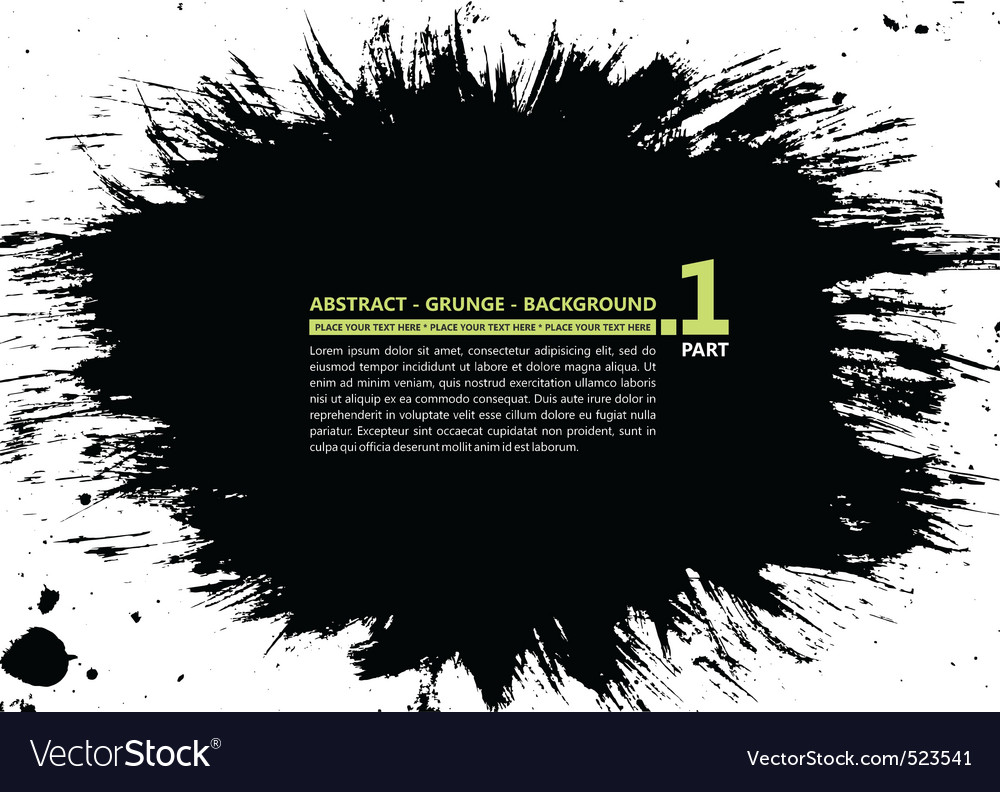 Grunge abstract silhouette background banner ink s