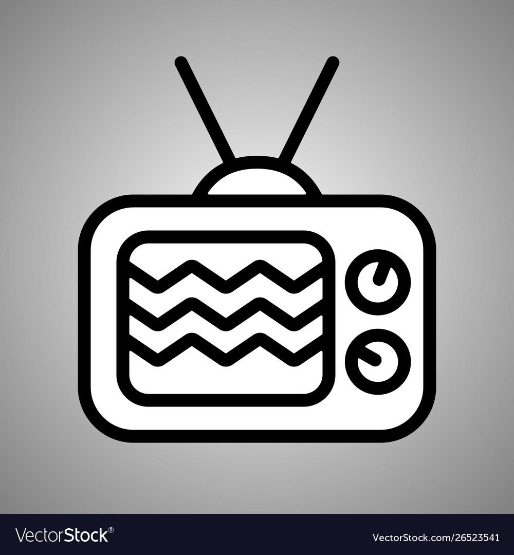 Retro tv icon web design icon retro tv flat
