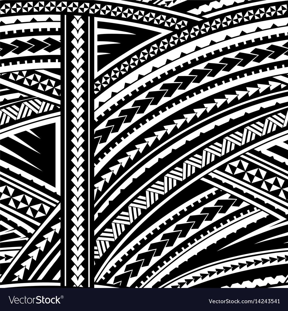 Polynesian Tribal Wallpaper: Samoa Tribal Ornament Royalty Free Vector Image