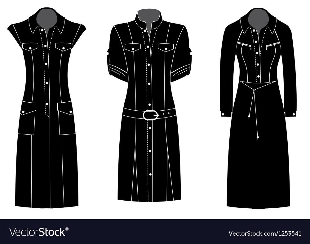 Woman dress silhouette