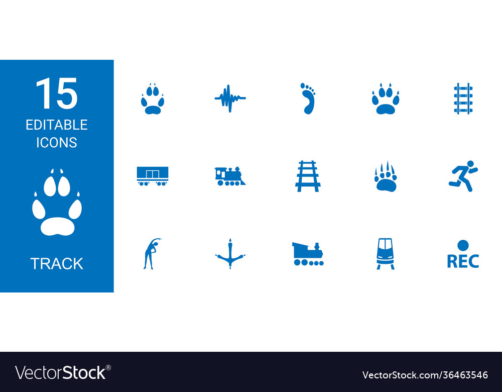 15 track icons