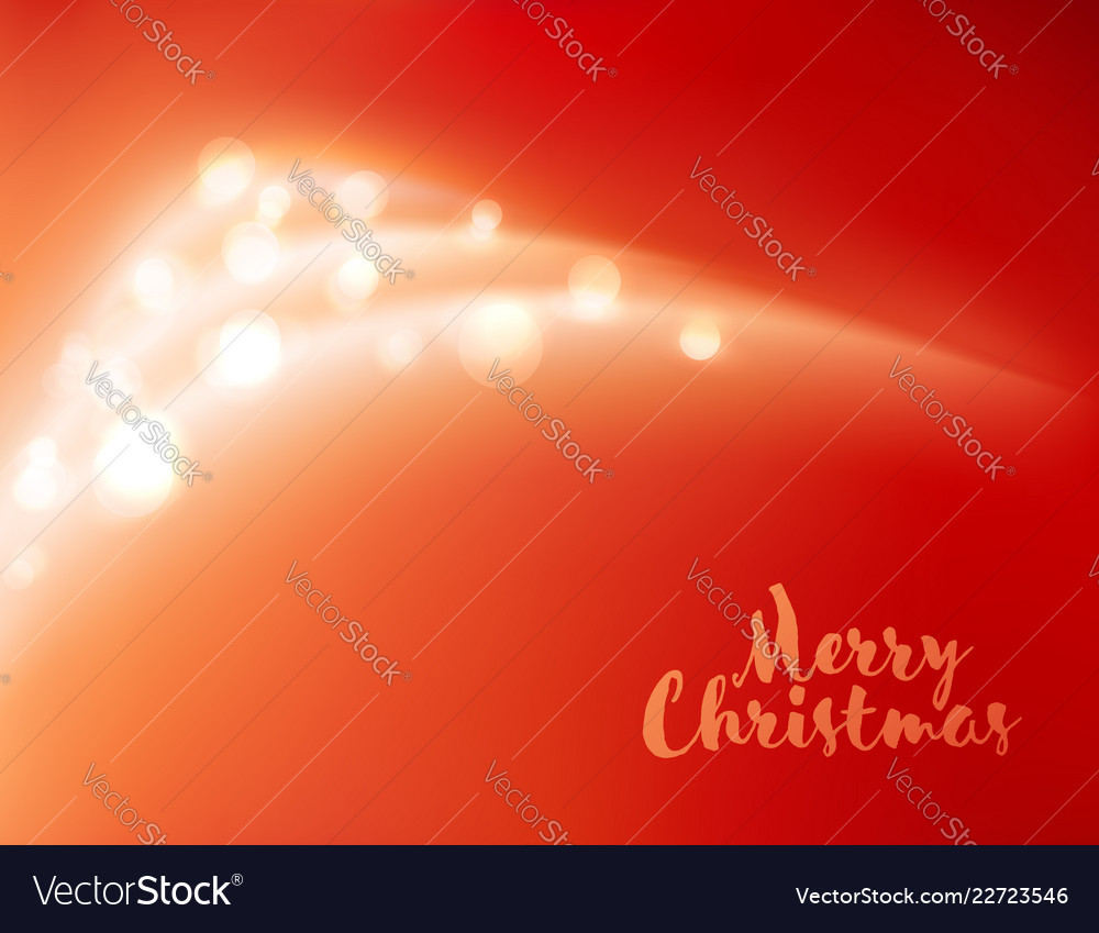 Abstract shiny christmas tree on red background