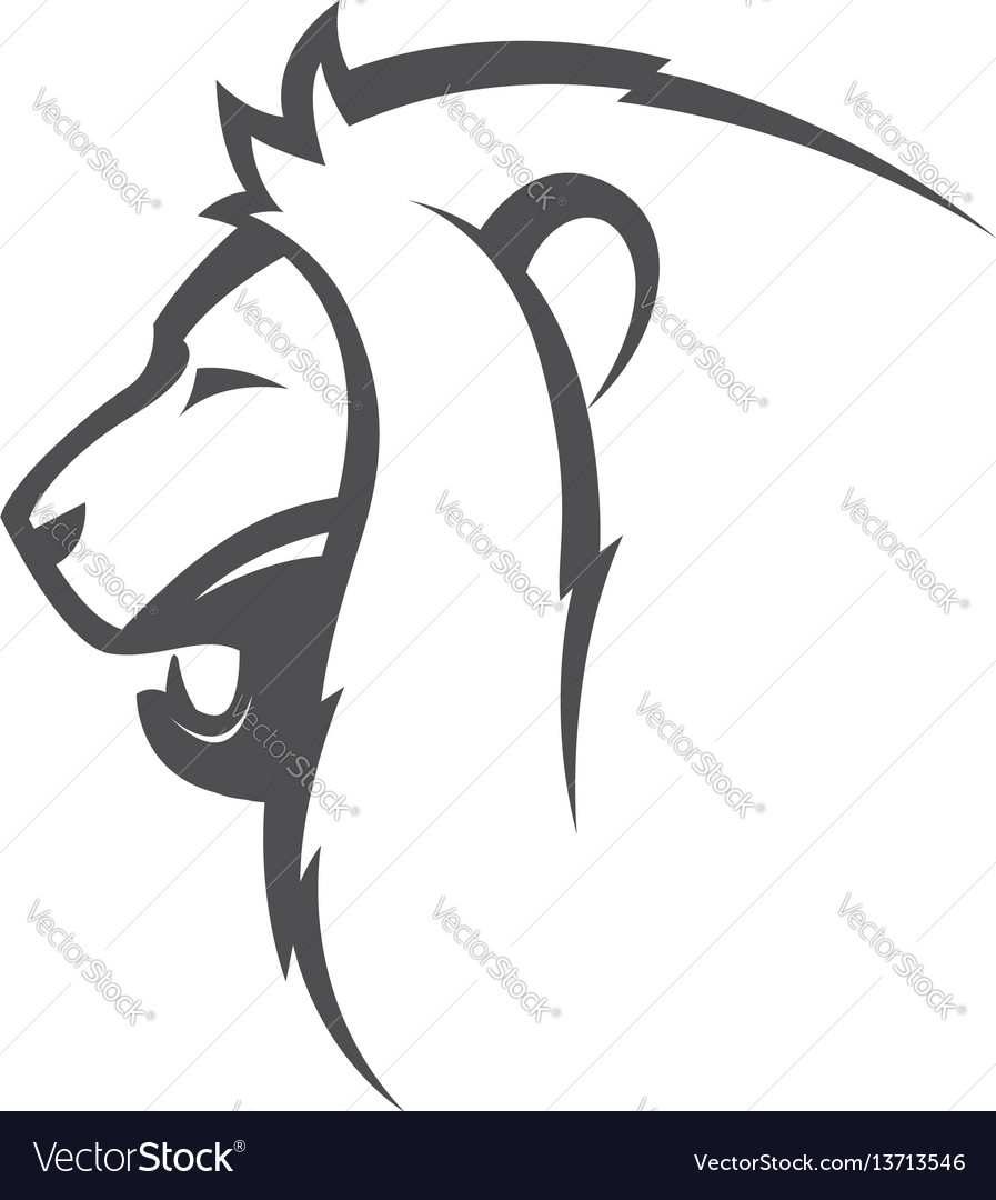 Angry lion image vector image
