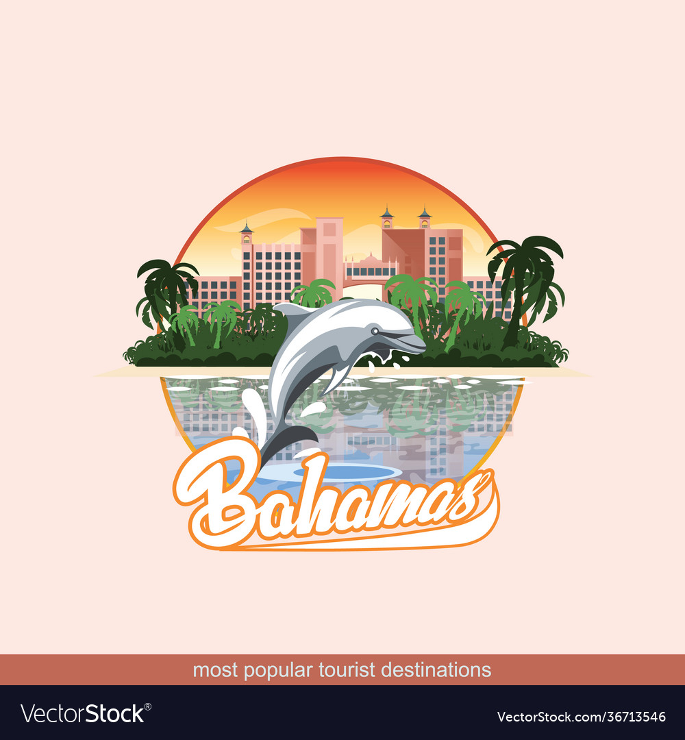 Bahamas with a playing dolphin