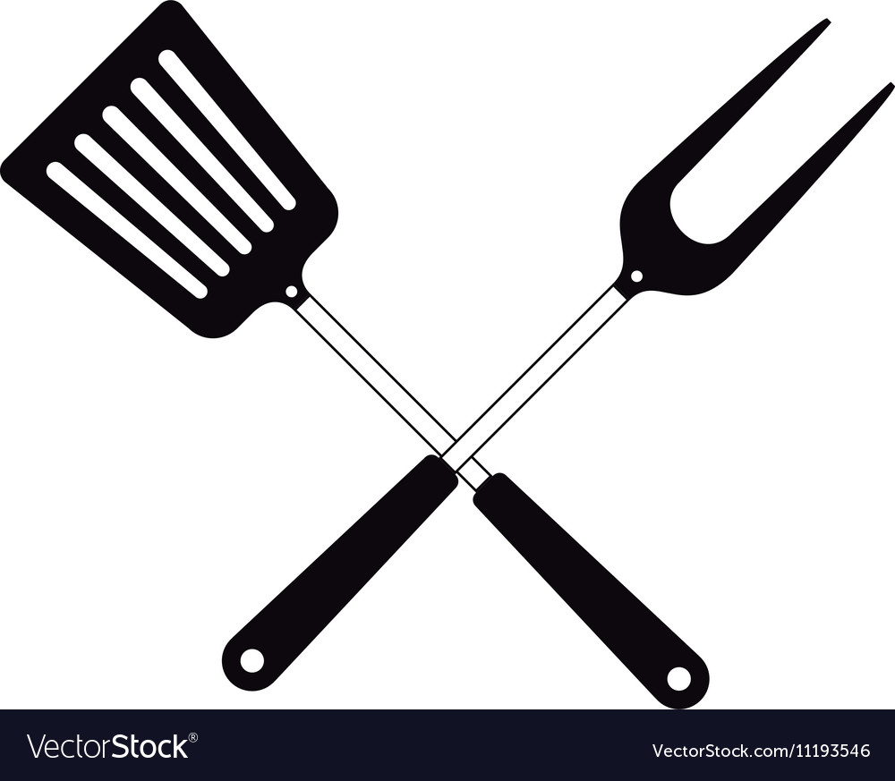 bbq cooking utensils royalty free vector image