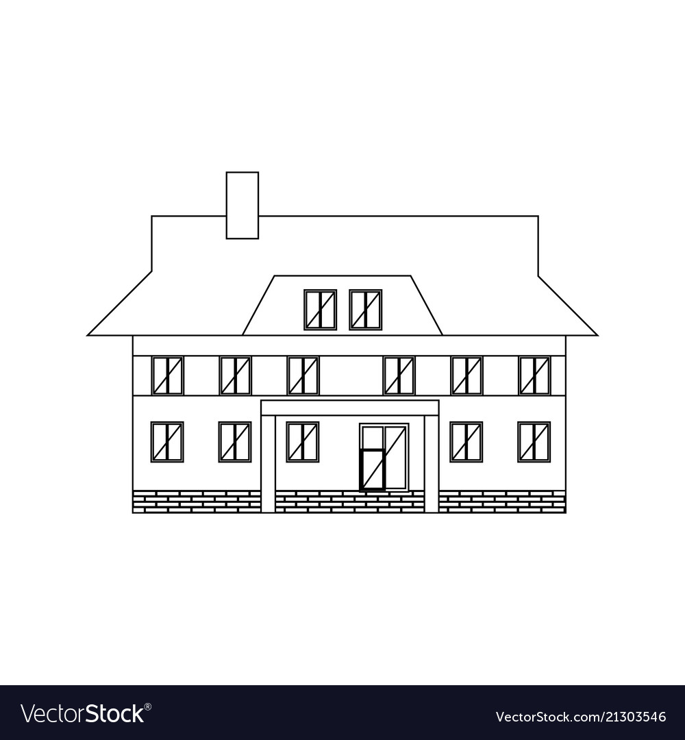 Building house coloring pages vector image