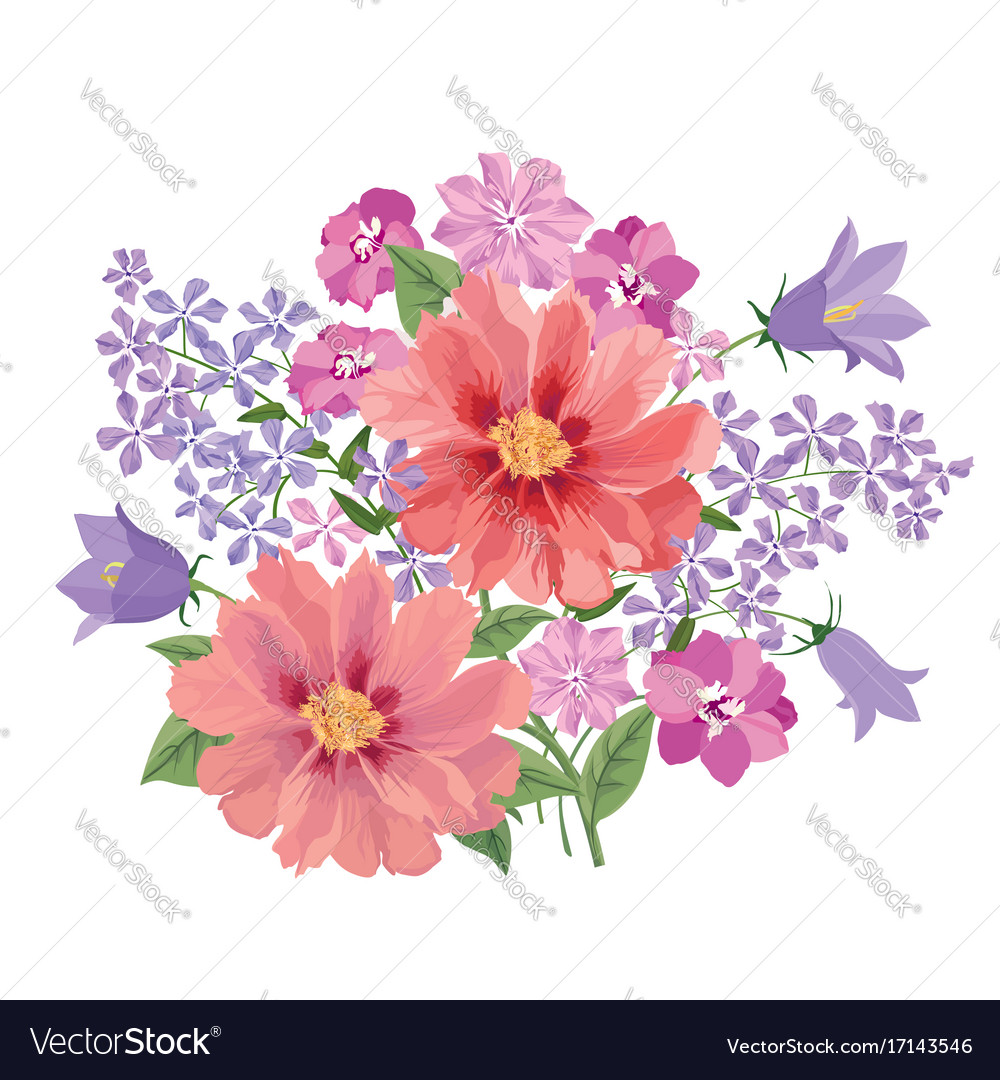 Flower bouquet floral frame flourish greeting