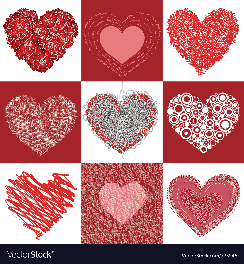 Group heart vector image