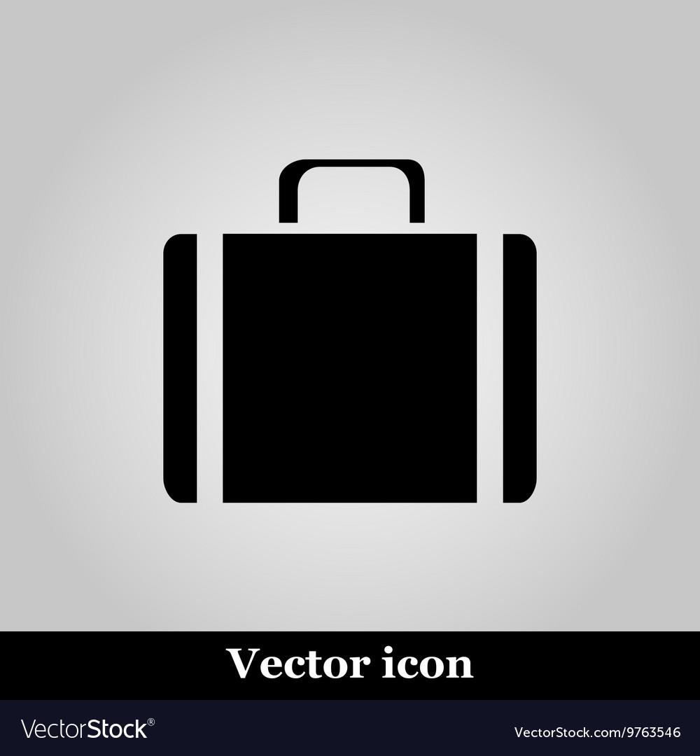 Icons suitcase on grey background