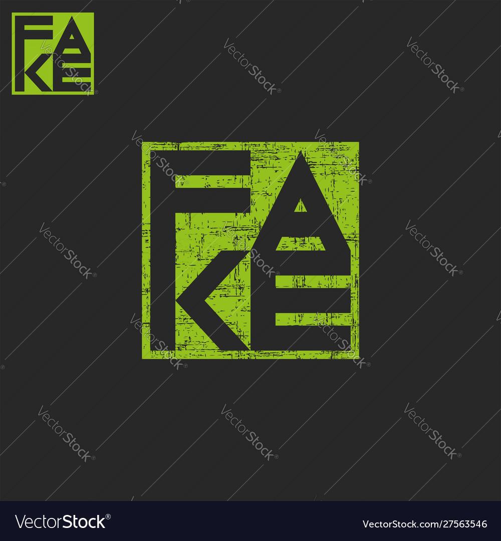 Lettering fake print
