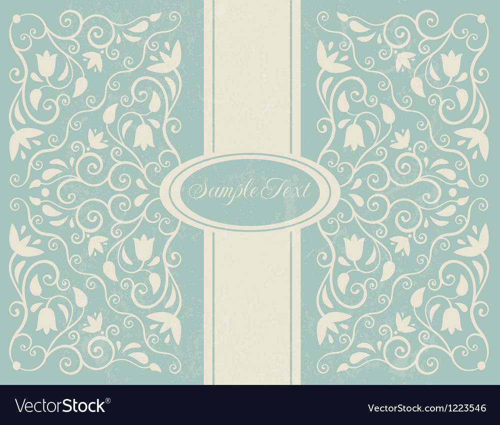 Ornate floral backgroung
