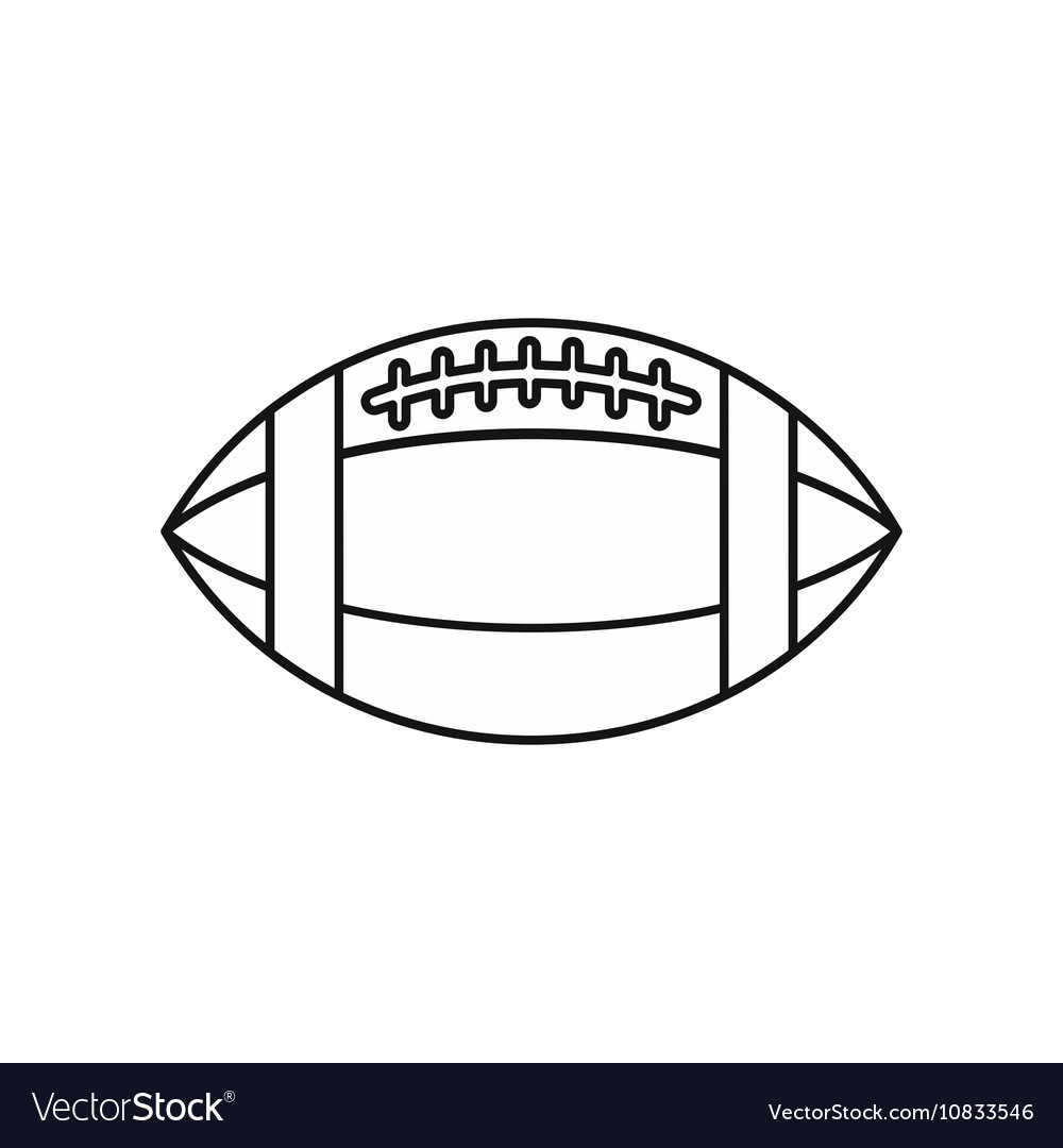 Rugby ball icon outline style vector image