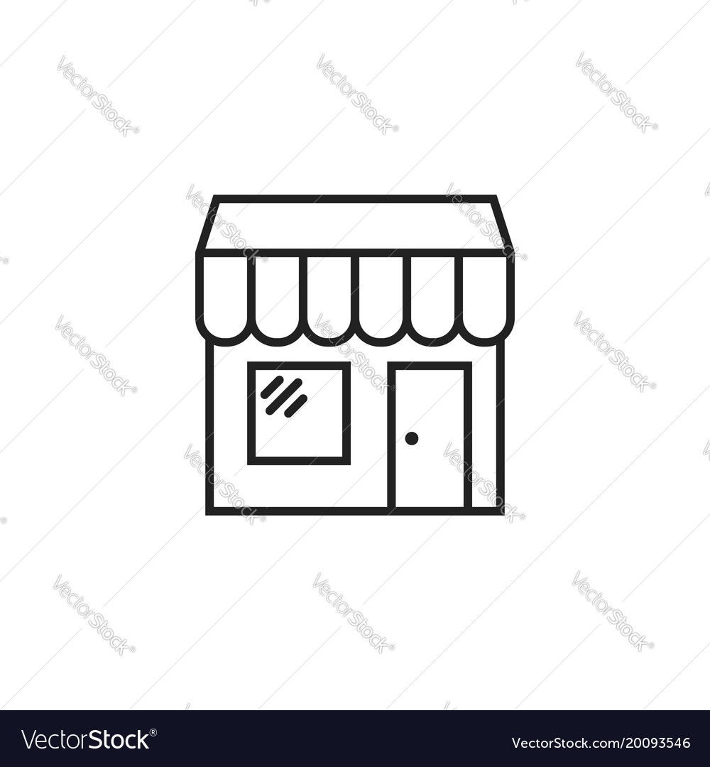 Store icon shop build vector image