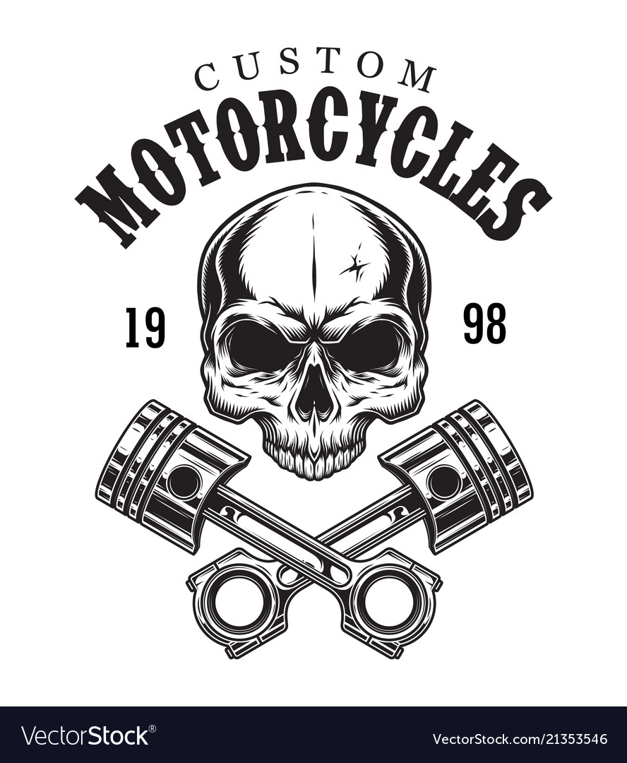 Vintage custom motorcycle logotype
