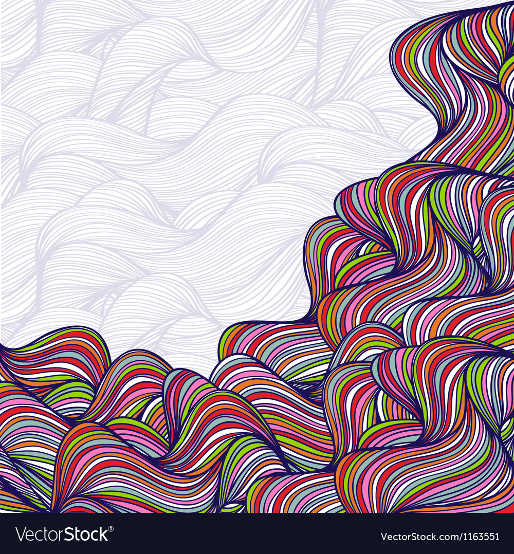 Abstract hand-drawn waves background