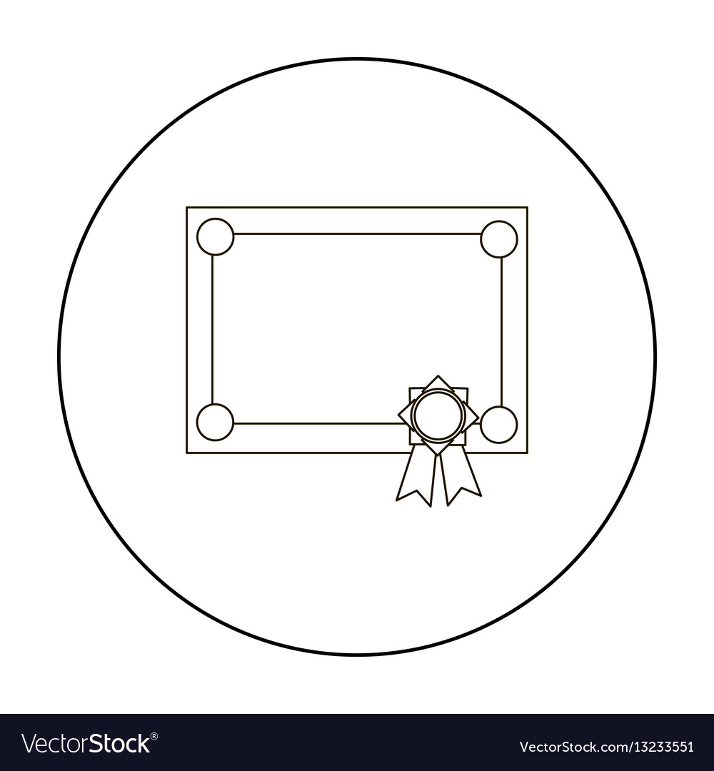 Diploma icon outline single education icon from vector image