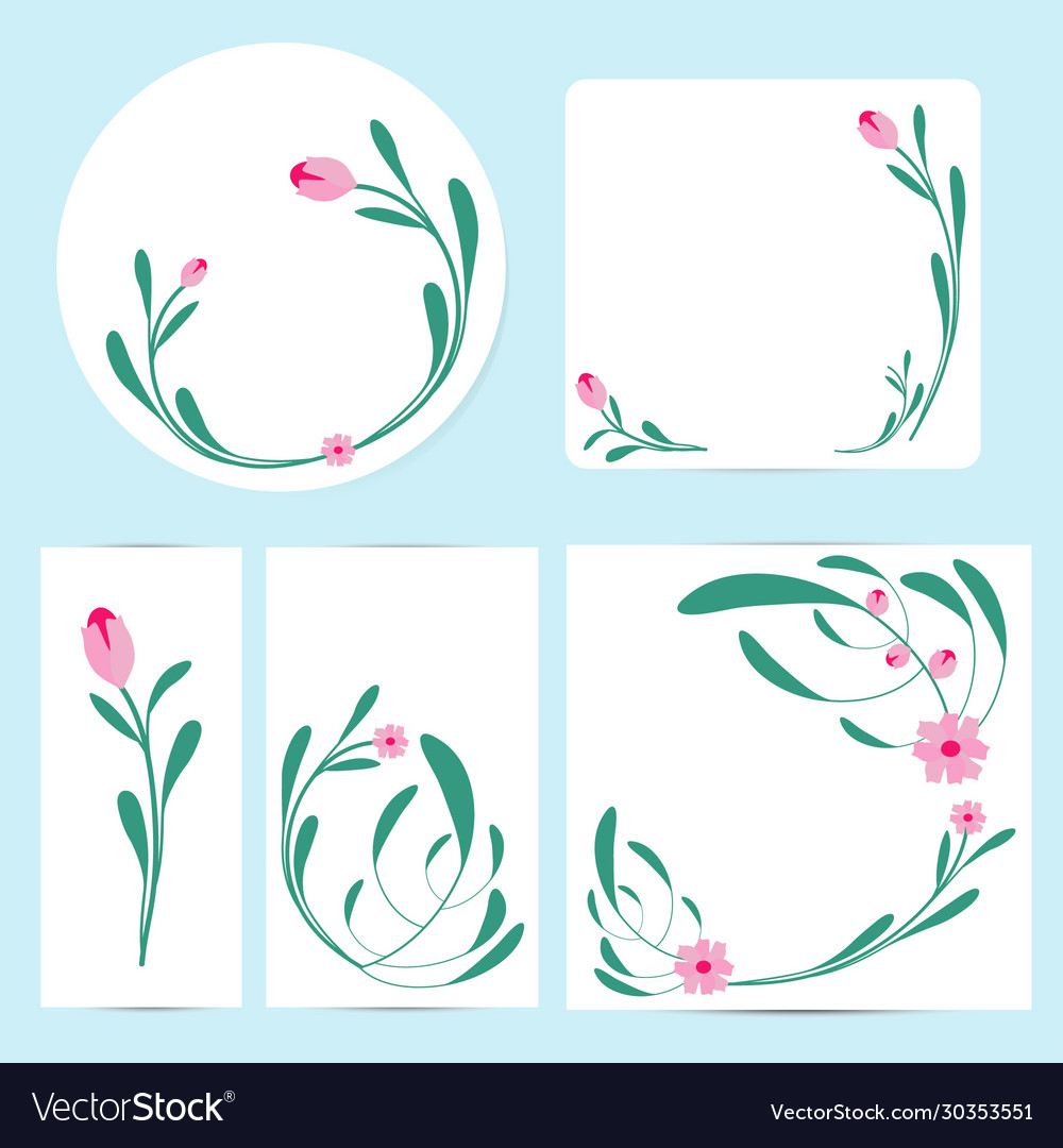 Floral cards and invitation collection
