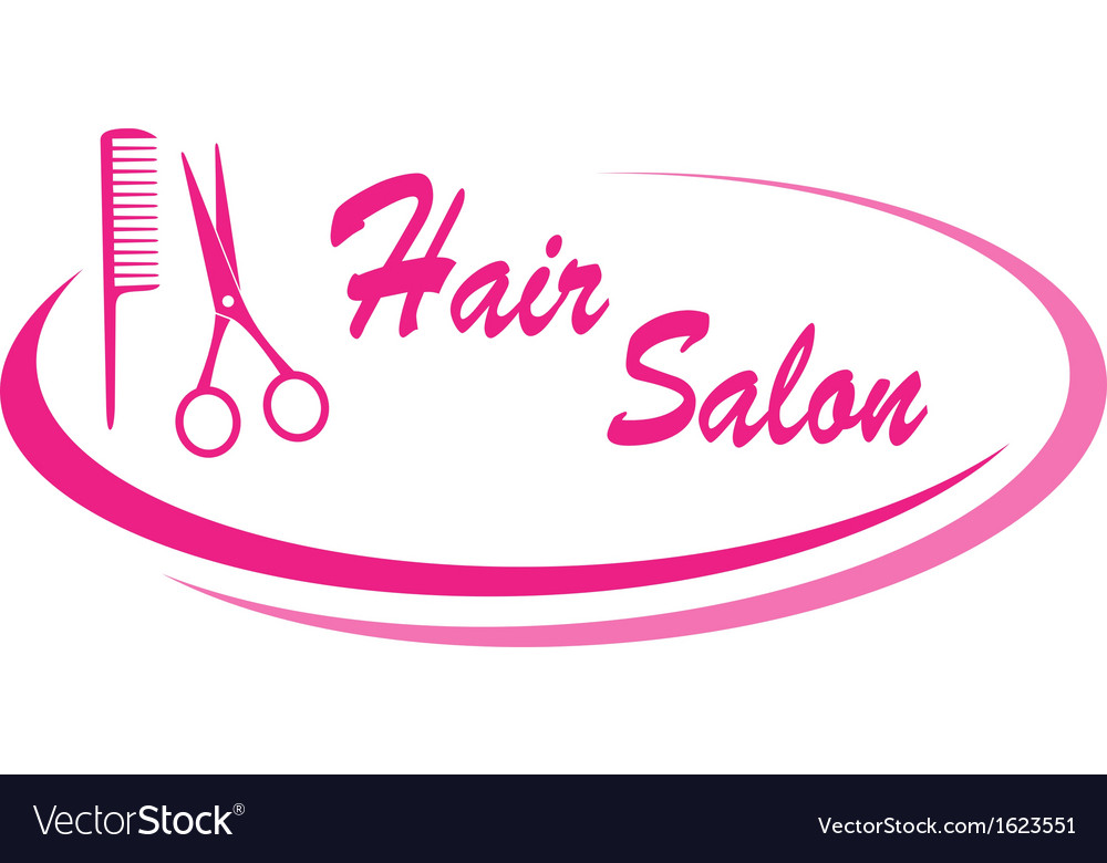 Hair salon sign with design elements