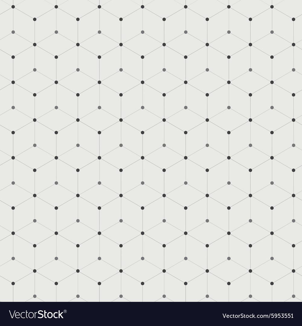 Hexagonal connections vector image
