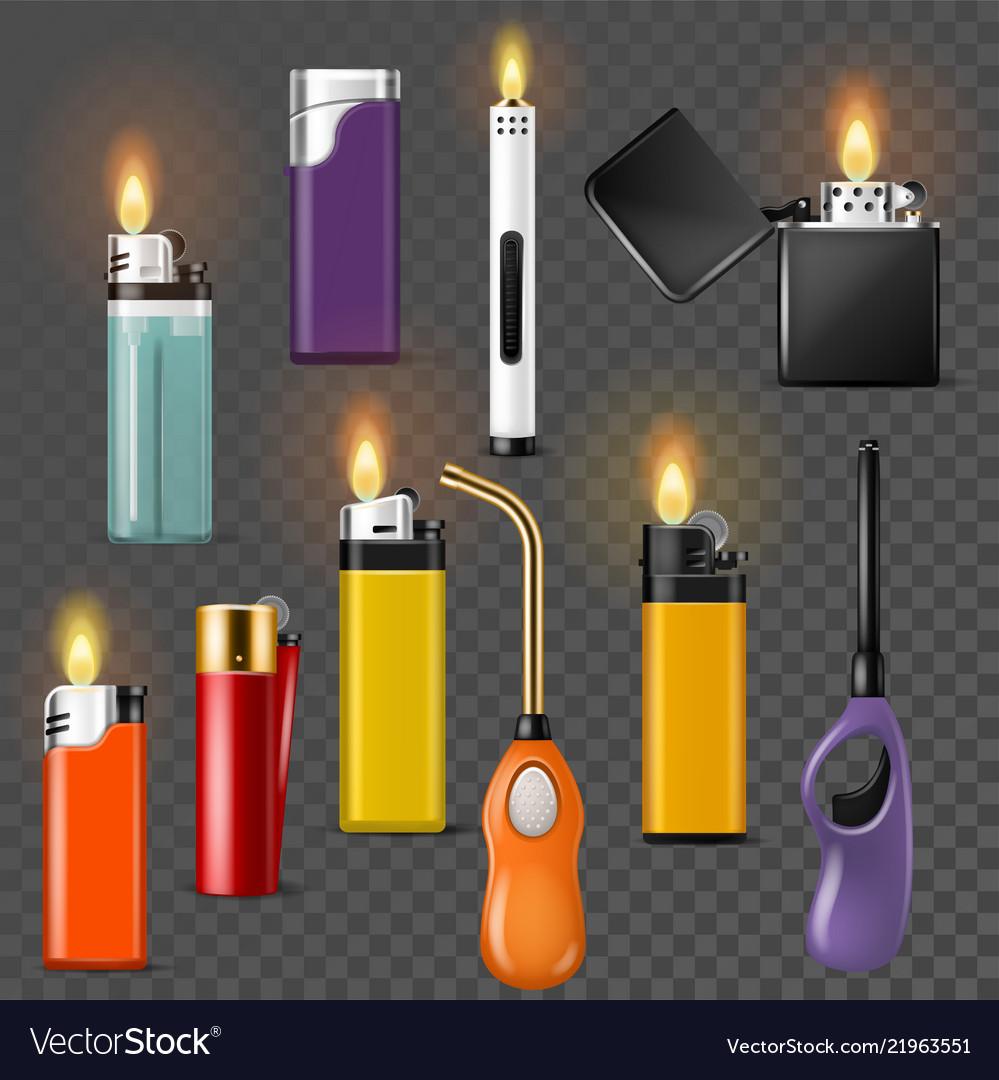Lighter cigarette-lighter with fire or