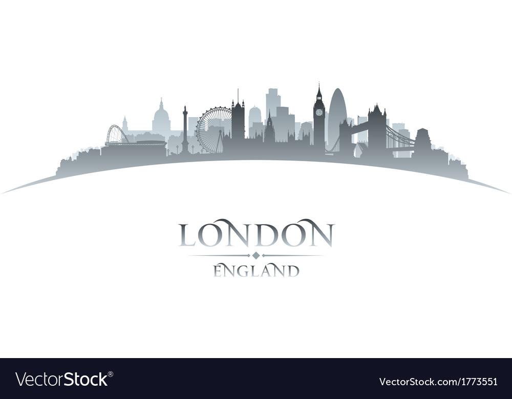 London England city skyline silhouette