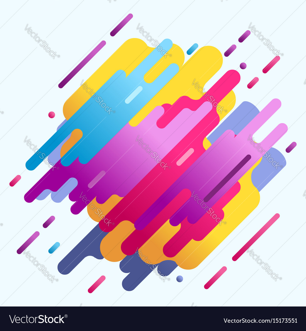 Neon design pattern retro 80s element for poster vector image
