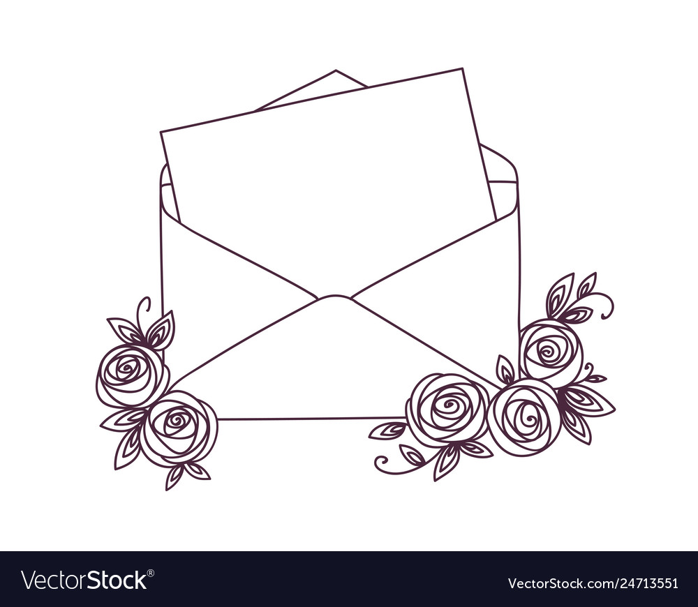 Open letter with roses