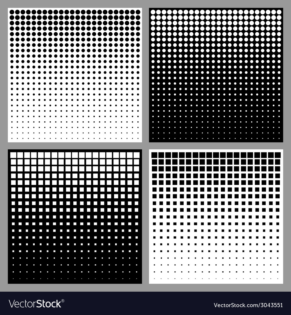 Set of Abstract Halftone Backgrounds