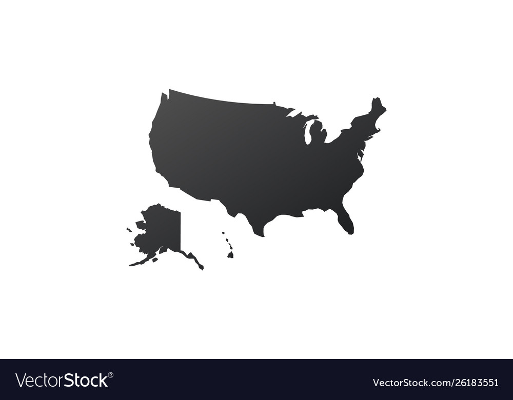 Usa united states map icon map silhouette