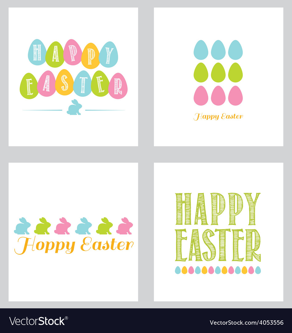 Easter greeting card pack brights vector image