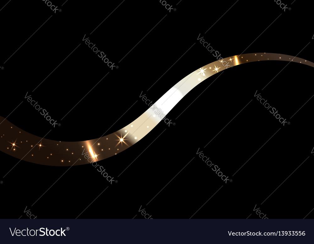Gold wave ribbon
