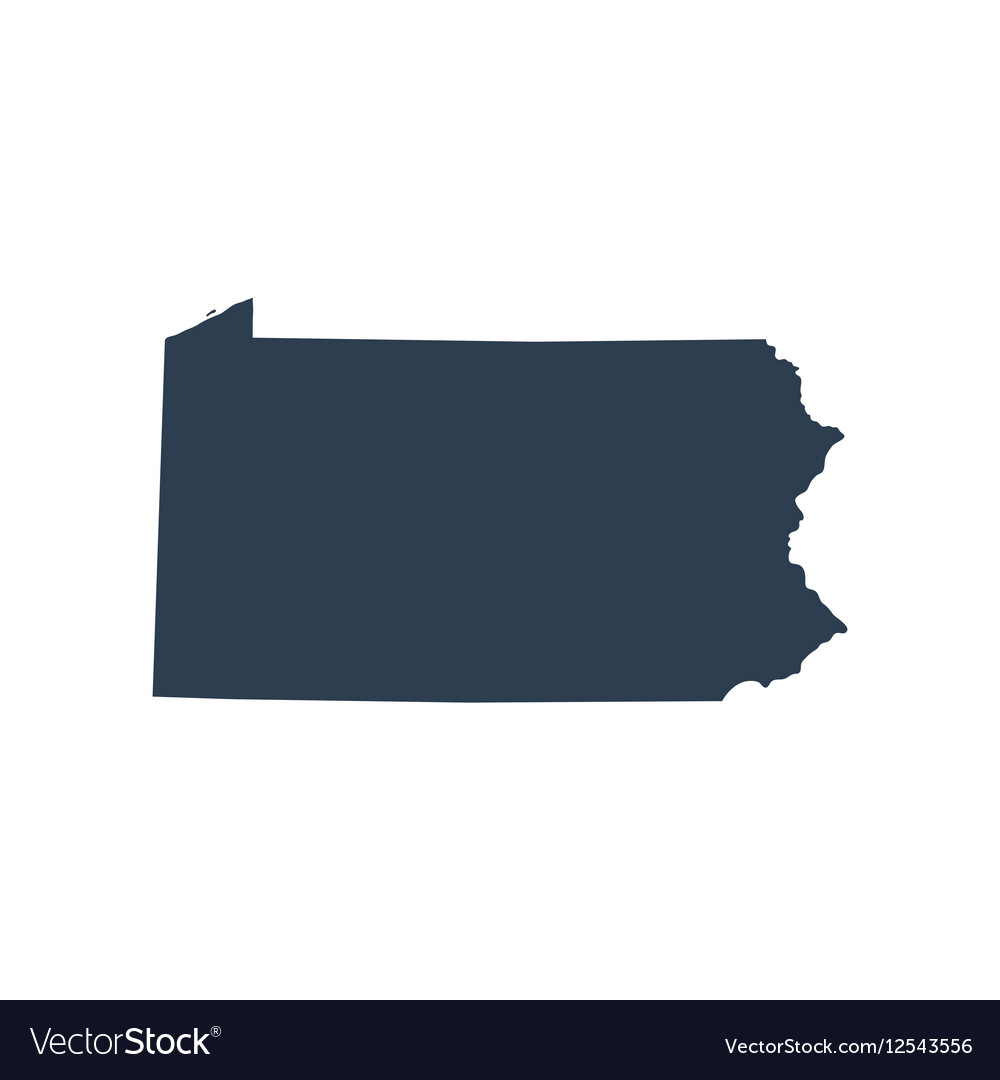 Map of the US state Pennsylvania vector image